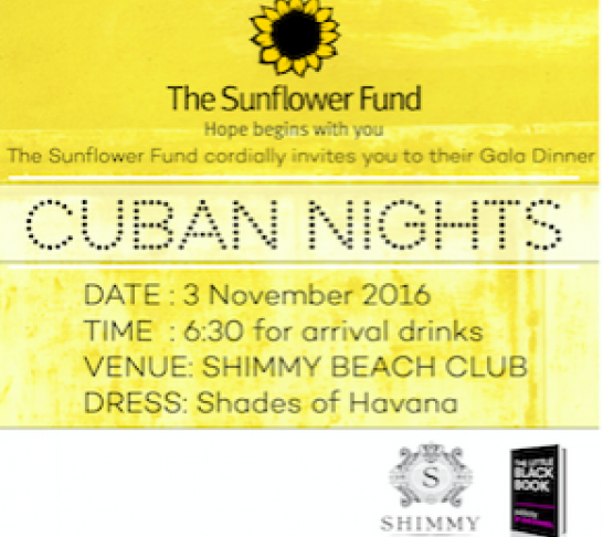 Sunflower Fund Gala Dinner - Cuban Nights